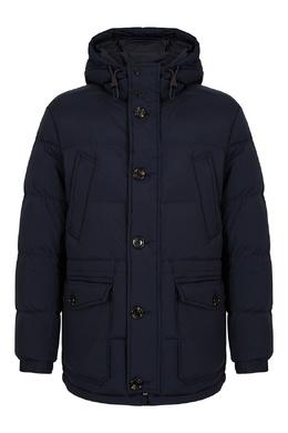 Темно-синяя куртка с капюшоном Boss 1166158236