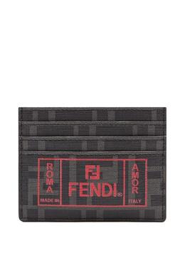 Картхолдер с монограммами черного цвета Fendi 1632157871