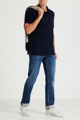 Синие джинсы с потертым эффектом Boss 1166158080