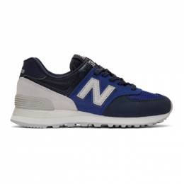 New Balance Blue and Navy 574 Core Sneakers ML574JHS