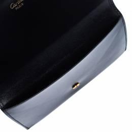Cartier Black Leather Sapphire Line Flap Wallet 232211