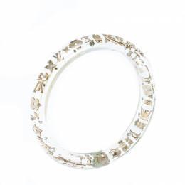 Louis Vuitton Clear Resin Monogram Inclusion Bangle Bracelet 232202