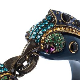 Lanvin Blue Crystal Embellished Bird Cuff Bracelet 233858