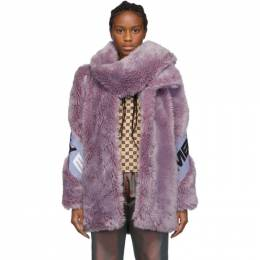 Misbhv Purple Faux-Fur Europa Coat 192937F06300101GB