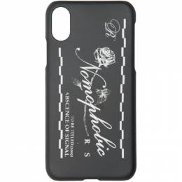 Raf Simons Black Nomophobic iPhone X Case 192-942