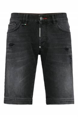 Черные джинсовые шорты Philipp Plein 1795138428