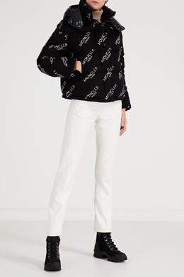 Черная куртка с логотипами Moncler 34158653