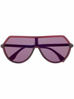 Fendi Eyewear массивные солнцезащитные очки с логотипом FF0377S