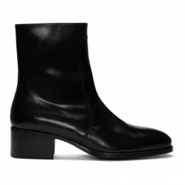 Lemaire Black Leather Chelsea Boots M 193 FO249 LL125