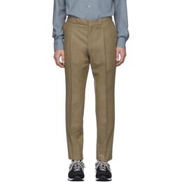 Z Zegna Tan Drawstring Trousers 192263M19101506GB