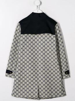 Gucci Kids - пальто с узором GG 089XWAE0955398590000