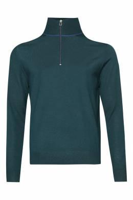 Бирюзовый свитер с застежкой-молнией Paul Smith 1924159189