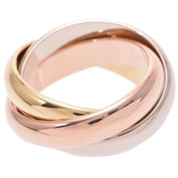 Cartier Trinity De Cartier Three Tone 18k Gold Band Ring Size 51 235002