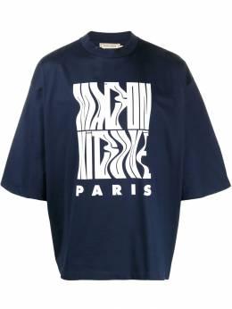 Maison Kitsune футболка оверсайз с принтом DM00109KJ0028