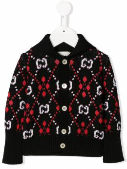 Gucci Kids кардиган с узором GG 565794XKANL