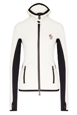 Черно-белая трикотажная куртка с капюшоном Moncler 34158667
