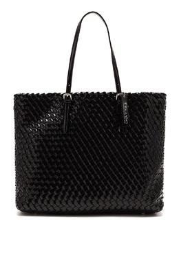 Черная плетеная сумка-тоут Ermanno Ermanno Scervino 1790158851