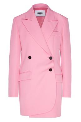 Ярко-розовый двубортный жакет MSGM 296158685