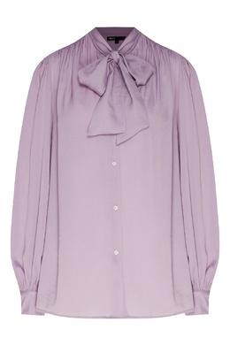 Сиреневая рубашка с шейным бантом Maje 888159575