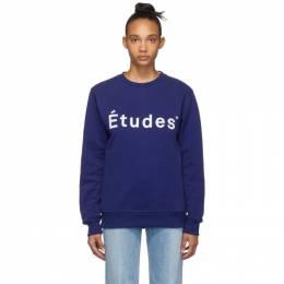 Etudes Blue Story Logo Sweatshirt 192647F11000405GB