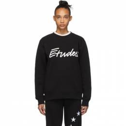 Etudes SSENSE Exclusive Black Signature Sweatshirt 192647F09800106GB