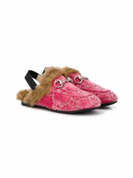 Gucci Kids лоферы Horsebit с монограммой 5466179TI60