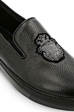 Черные кожаные мокасины Billionaire 1668155417