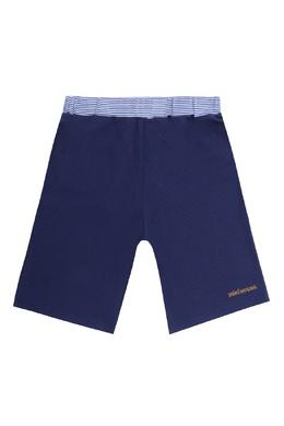 Синие брюки с контрастной отделкой Miki House 3018159760