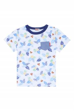 Голубая футболка с принтом Miki House 3018159777