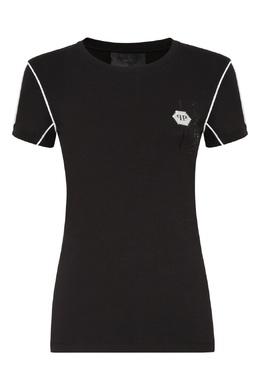 Черная футболка с контрастной отделкой Philipp Plein 1795159409