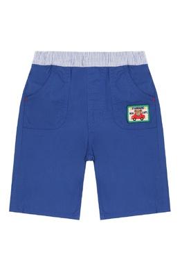 Синие брюки с контрастным поясом Miki House 3018159755