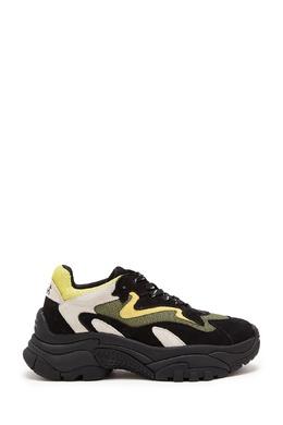 Черно-белые кроссовки с лимонными вставками Ash 6159037