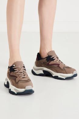 Сине-бордово-бежевые комбинированные кроссовки Ash 6159034