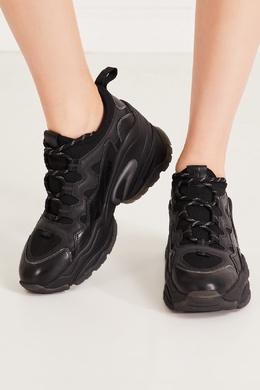 Массивные черные кроссовки комбинированного дизайна Ash 6159031