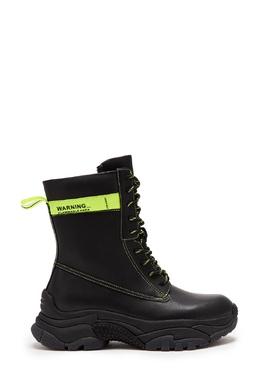 Черные ботинки с неоновой отделкой Ash 6159028