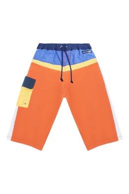 Оранжевые брюки с контрастной отделкой Miki House 3018159778