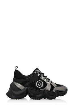 Массивные кроссовки черного и серого цвета Philipp Plein 1795159235