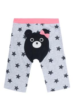 Серые брюки с контрастной вставкой Miki House 3018159649