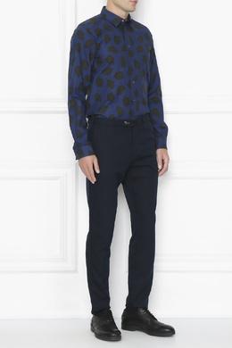 Синяя рубашка с принтом Paul Smith 1924159276