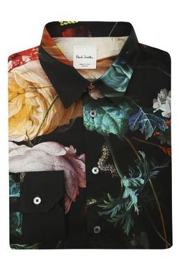 Рубашка с цветочным принтом Paul Smith 1924159280