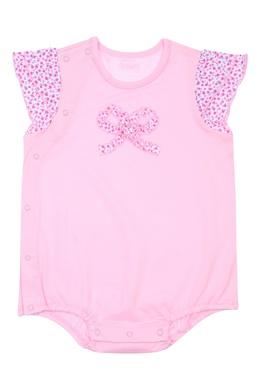 Розовое боди с отделкой Miki House 3018159637
