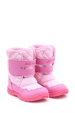 Розовые сапоги на липучке Miki House 3018159639