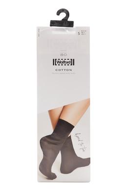 Хлопковые носки белого цвета Wolford 2931160085