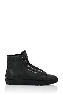 Черные кожаные кеды Philipp Plein 1795159544