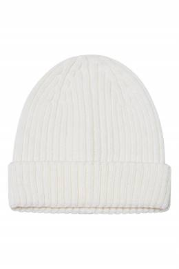 Белая шапка бини из шерстяного микса Blank.Moscow 92159955
