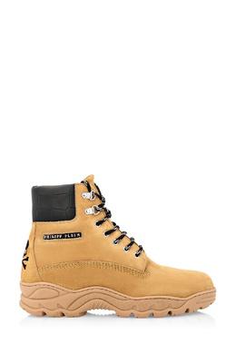 Бежевые ботинки с вышивкой Philipp Plein 1795159358