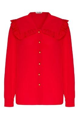 Красная блуза с воротником оверсайз Miu Miu 375159971