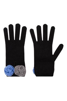 Перчатки с объемными вязаными цветами Miu Miu 375159992