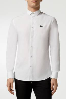 Белая рубашка с логотипом сзади Philipp Plein 1795159827