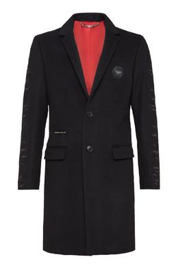 Черное пальто с вышивкой Philipp Plein 1795159810